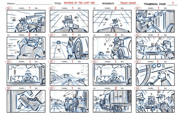 Raiders thumbnailsjpg (632×400) Chong Suk Lee Pinterest Raiders - film storyboards