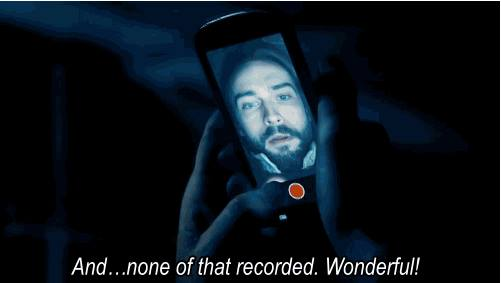 Ichabod tries to leave a video message on Sleepy Hollow.
