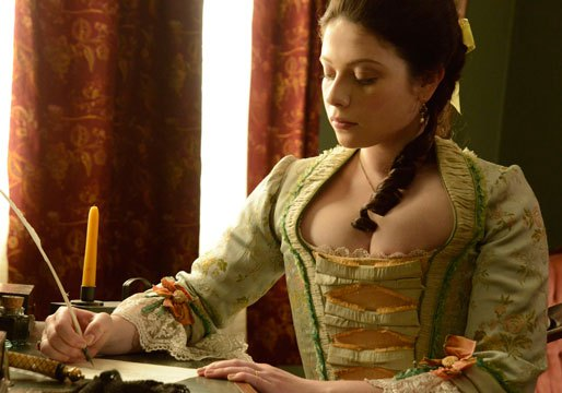 Abigail Adams played by Michelle Trachtenberg writes a letter on Sleepy Hollow.