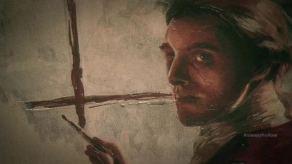 Jame's Colby's self-portrait on Sleepy Hollow