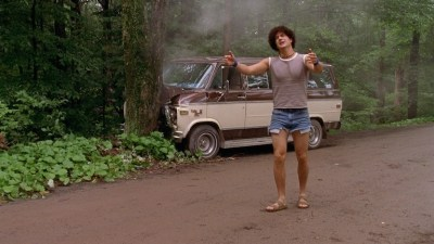 Victor drives into a tree in Wet Hot American Summer