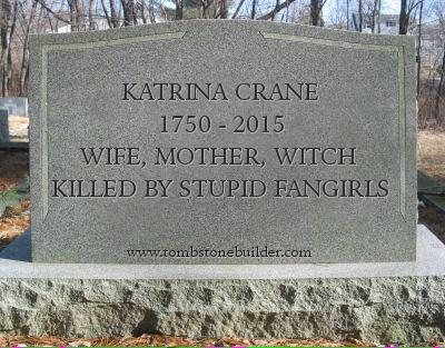 Tombstone for Sleepy Hollow's Katrina Crane