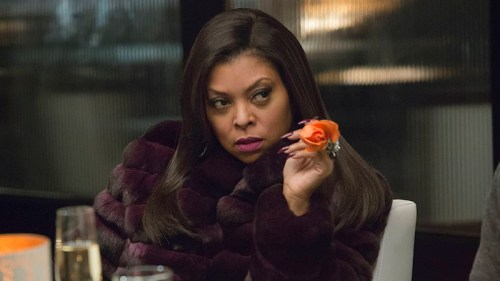 Cookie holding a rose on Empire