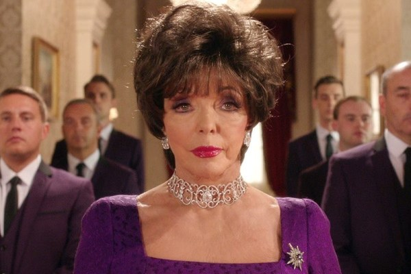 Joan Collins on The Royals