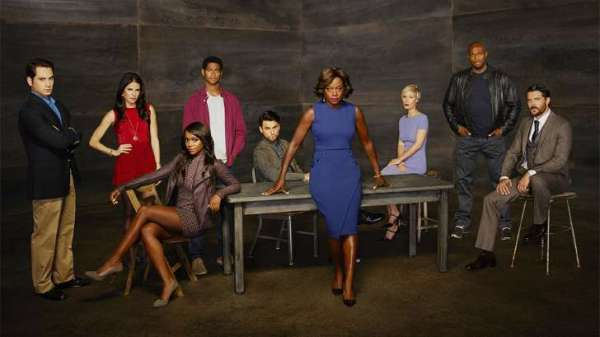 Viola Davis as Annalise Keating and cast of How to Get Away with Murder season two.