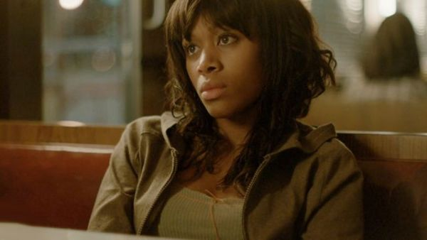"Flashback to young Abbie Mills (Nicole Beharie) on the night she met Sheriff Corbin in the ""Blood Moon"" episode of Sleepy Hollow"