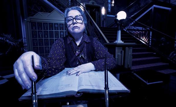 Kathy Bates as Iris on American Horror Story Hotel