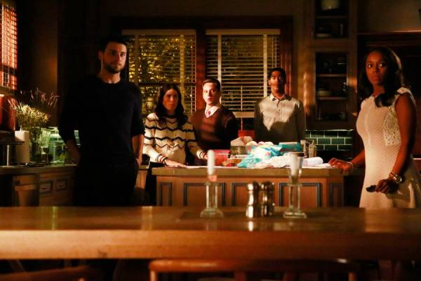 Connor, Laurel, Asher, West and Michaela on How to Get Away with Murder