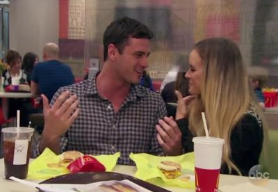 Ben and Amanda at McDonalds on The Bachelor