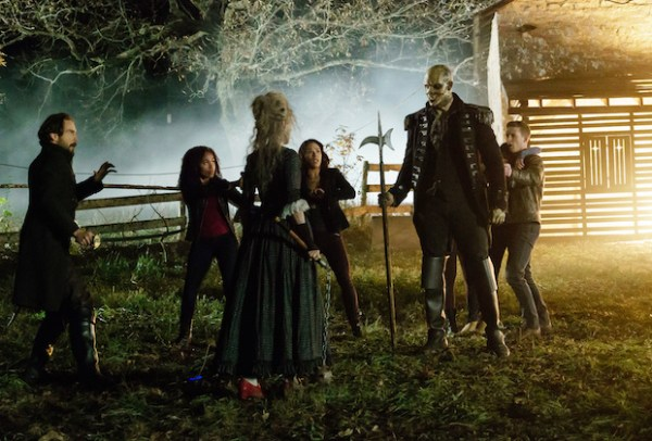 Abbie, Ichabod, Sophie, Jenny and Joe rescue Zoe from the Kindred  and watch him with the Kindress