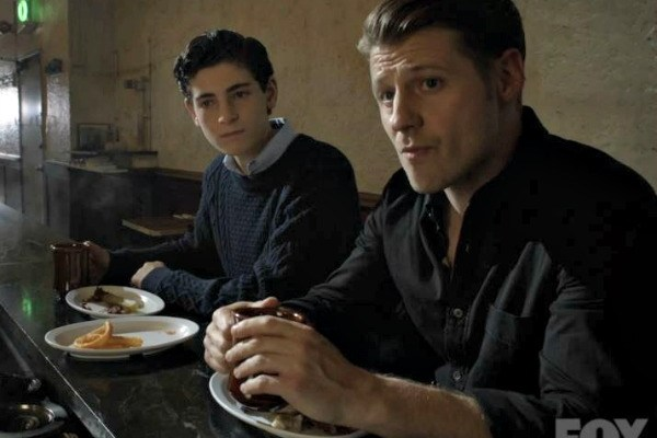 Bruce Wayne and Jim Gordon on Gotham