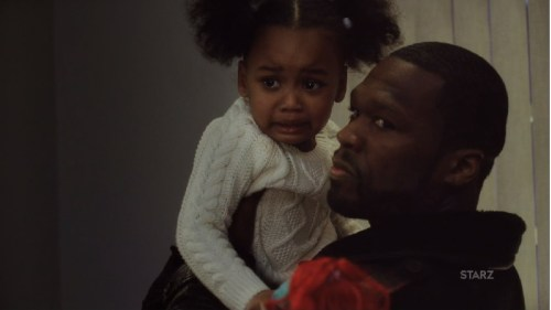 Kanan hold's Dre's little girl on Power