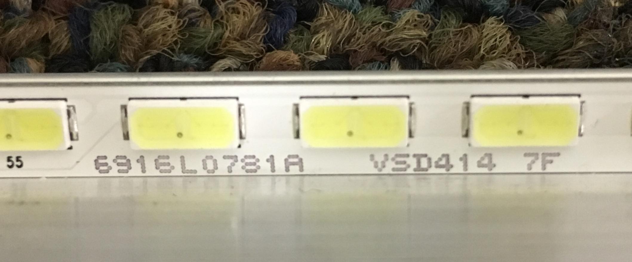 6916l0781a Led Strip With Heat Sink Tv Repair Kits