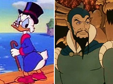 Scrooge McDuck and Ming the Merciless