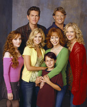 The cast of Reba, that has been saved