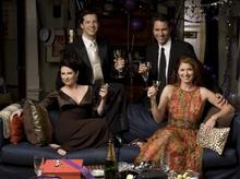 Will & Grace actors make a toast