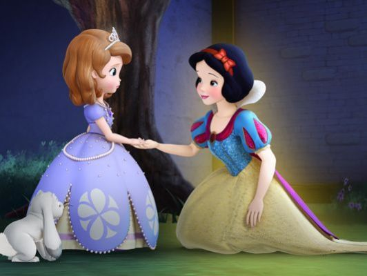 sofia the first with snow white