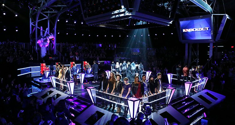 "THE VOICE -- ""Knockout Rounds"" Episode 511 -- Pictured:  (l-r) Season 5 Knockout Rounds Teams -- (Photo by: Trae Patton/NBC)"