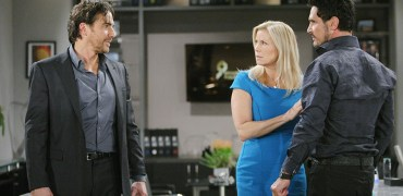 "Thorsten Kaye, Don Diamont, Katherine Kelly Lang ""The Bold and the Beautiful"" Set CBS Television City Los Angeles, Ca. 03/06/14 © sean smith/jpistudios.com 310-657-9661 Episode # 6828 U.S.Airdate 05/20/14"