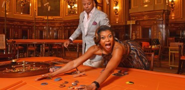 "Terrence Howard and Taraji P.Henson form the ""Empire"" TV Series attend a photo session at the Monaco casino on June 15, 2015 in Monte-Carlo, Monaco. Source: PLS Pool/Getty Images Europe"