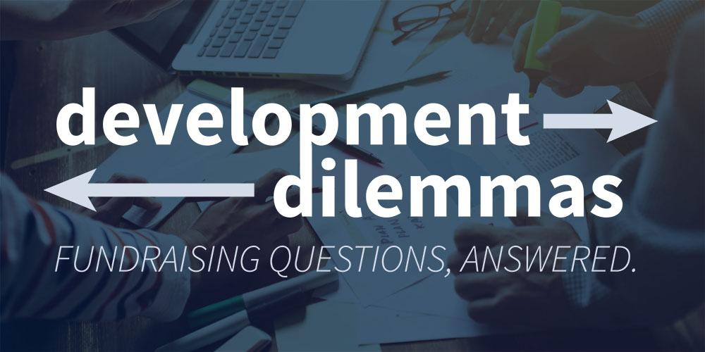 Development Dilemma Goals for a New Director of Development - Ter
