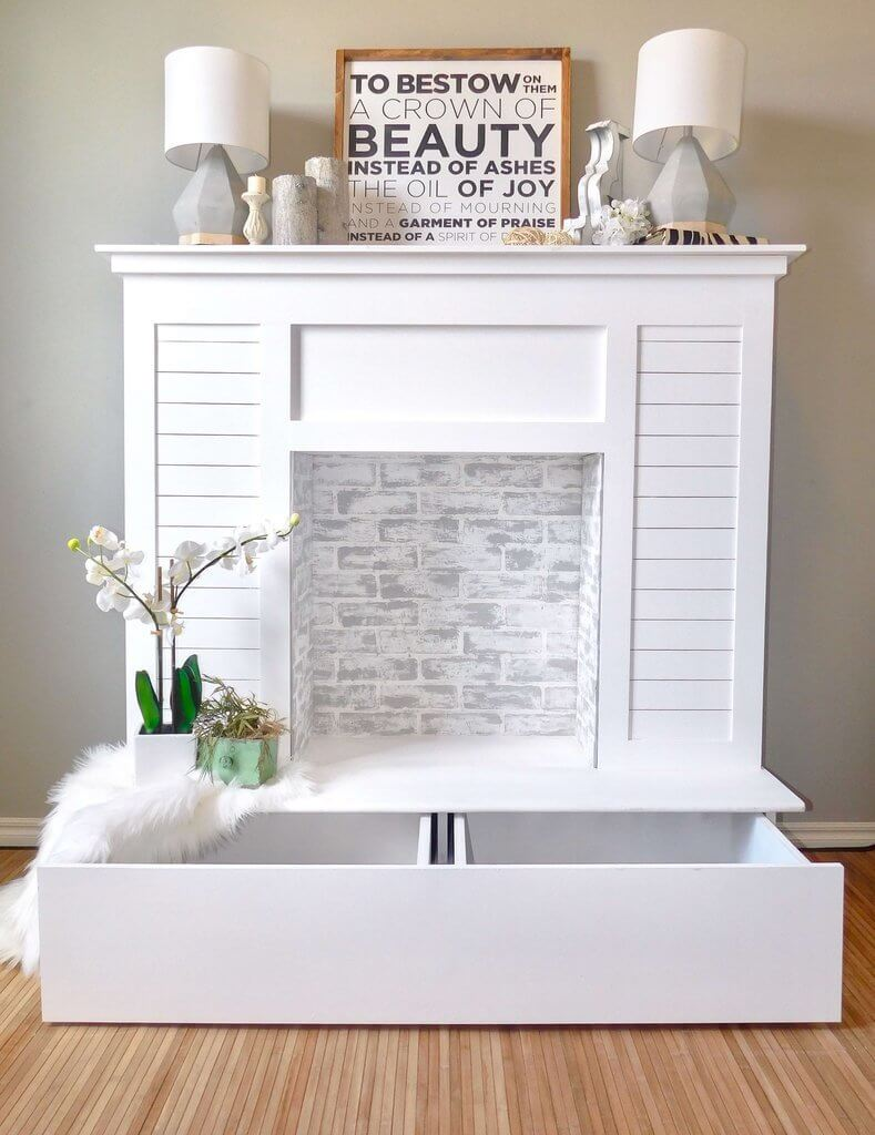 Fake Fireplaces For Decoration 13 Stunning Diy Fake Fireplace Ideas To Make Now Twelve On Main