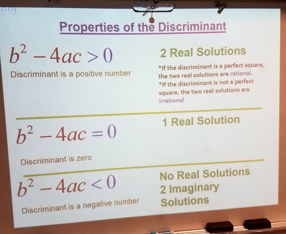 Using the Discriminant Rules