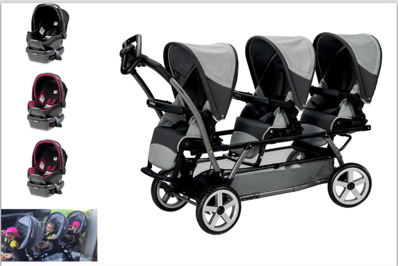 Peg Perego Stroller For Twins Peg Perego Complete Travel System Chassis With Steering Wheel 3 Peg Perego Primo Viaggio Car Seats That Attacand Directley To Chassis Frame And 3