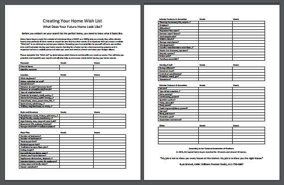 Creating Your Home Wish List \u2013 Printable for Step 3 - Ryan Bretzel