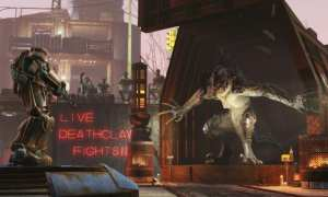 Fallout 4 Wasteland Workshop, DLC, arena, fight, creatures