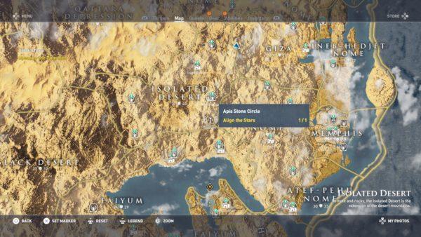 Assassin\u0027s Creed Origins All Stone Circles Locations