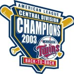 2003 Twins central division championship logo