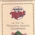1991 World Series ticket. Click on the ticket to see the full image.