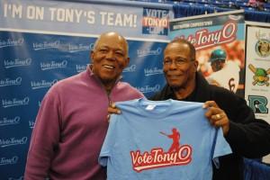 Tony Oliva with Rod Carew