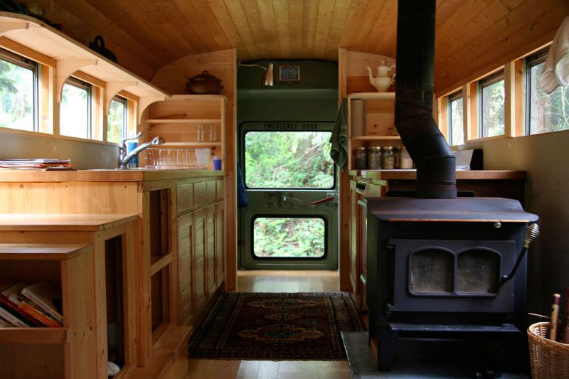 School Bus Converted Into Mobile Home Twistedsifter
