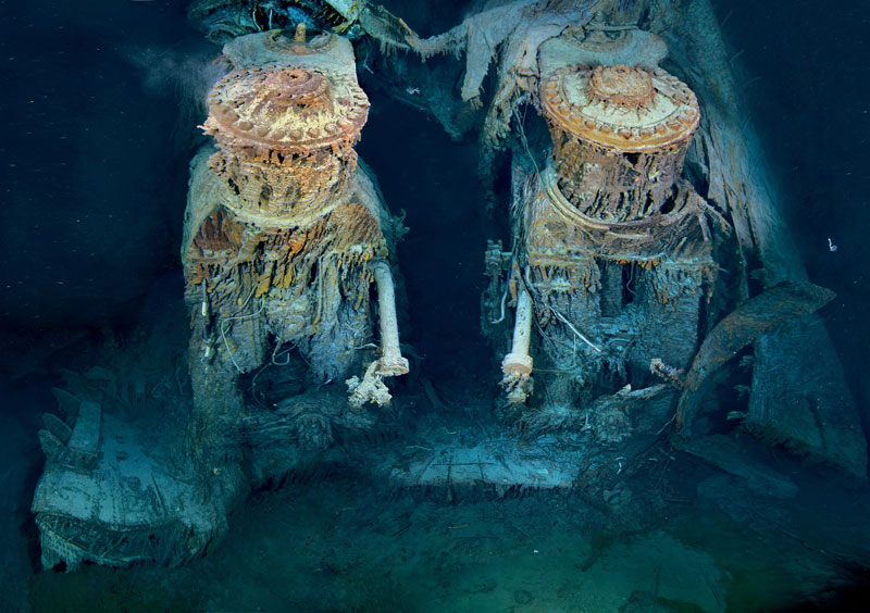 Picture Of The Day Titanics Engines Underwater