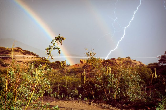 lightning rainbow perfect timing