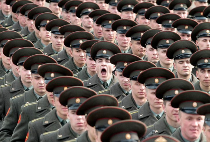 soldier yawning perfect timing