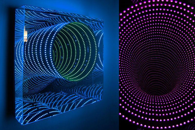 infinite LED artworks plexiglass mirrors hans kotter (3)