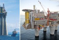 Picture of the Day: Just the Base of an Oil Platform Being Towed Out toSea