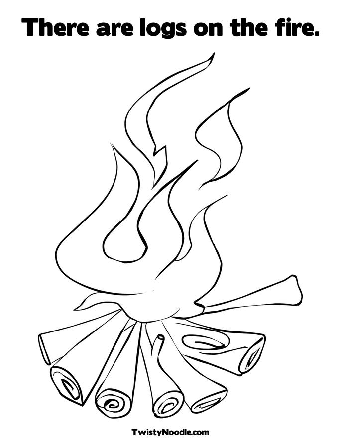Fire Coloring Pages Printable