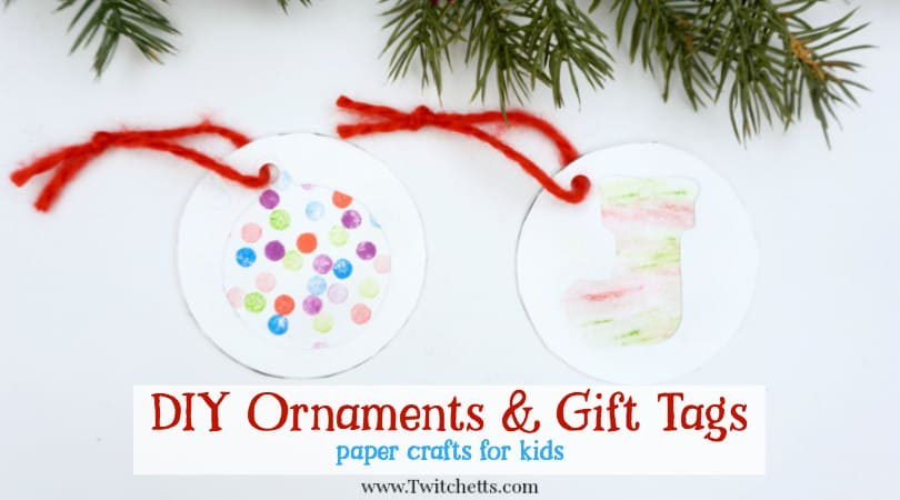 4 easy Christmas gift labels for kids to make - Twitchetts