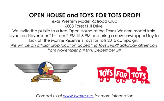 Open House And Toys For Tots Drop Texas Western Model