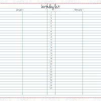 Acquirables: Yearly Birthday List