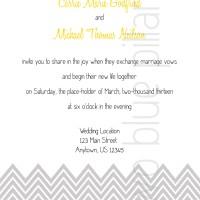Wedding Invitations: Chevron Color Script
