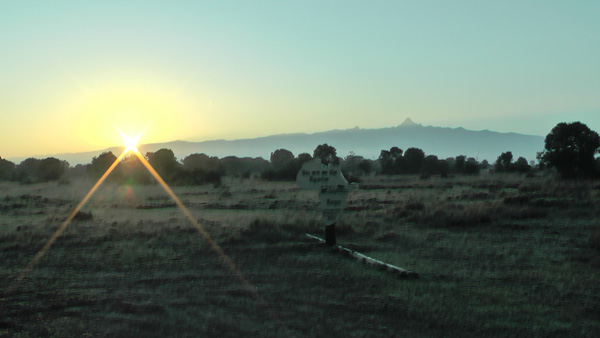Sunrise on the equator in Kenya
