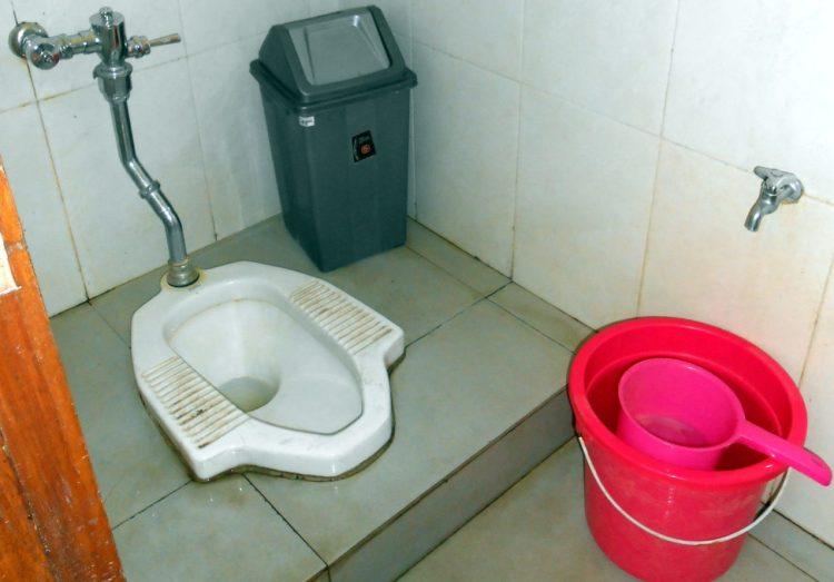 Indonesian squat toilet