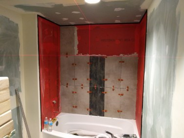 Tiling in progress