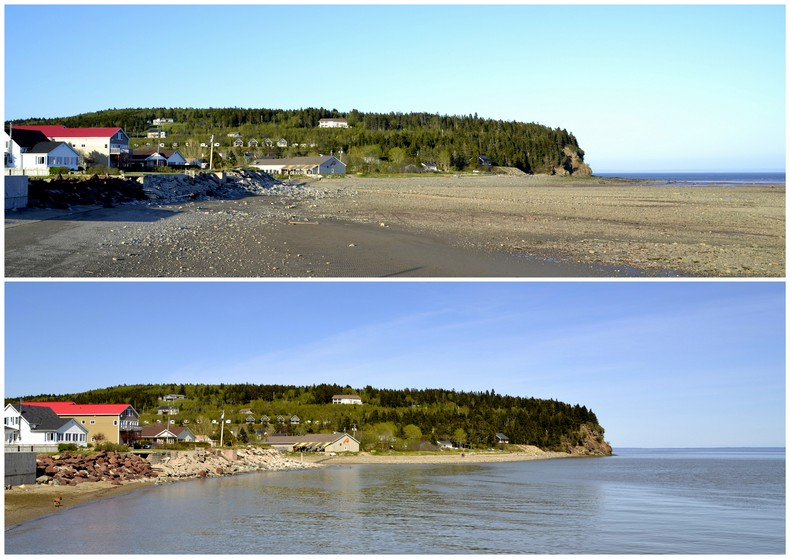 Post Nl Amsterdam Eb En Vloed In Bay Of Fundy - Two Horizons