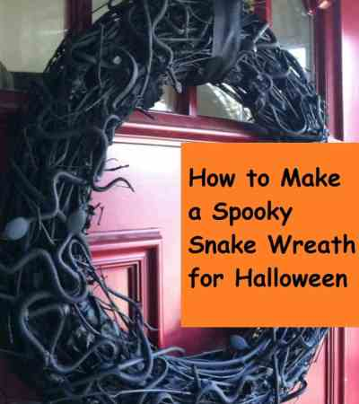 Spooky Snake Wreath on Two Kids and a Coupon